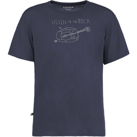 E9 Guitar T-Shirt Men blue navy